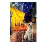 Cafe-Yellow Lab 7 Postcards (Package of 8)