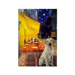 Cafe-Yellow Lab 7 Rectangle Magnet (10 pack)