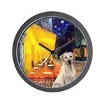 Cafe-Yellow Lab 7 Wall Clock