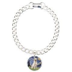 Starry - Yellow Lab 7 Charm Bracelet, One Charm