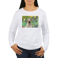Irises - Yellow Labrador Women's Long Sleeve T-Shi