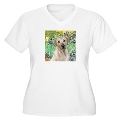 Irises - Yellow Labrador Women's Plus Size V-Neck