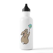 Bunny Blue Flower Water Bottle