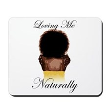 Loving Me Naturally Natural Afro Hug Mousepad