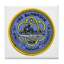 USS Bainbridge CGN 25 Tile Coaster