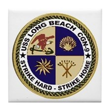 USS Long Beach CGN 9 Tile Coaster