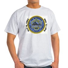 USS Bainbridge Decomm Ash Grey T-Shirt