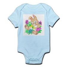 Bunny With Flowers Infant Bodysuit
