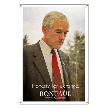 Ron Paul 2012 Honesty Banner