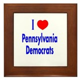 I Love Pennsylvania Democrats Framed Tile