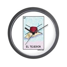El Tejedor [for guy knitters] Wall Clock