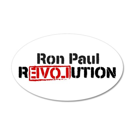 Ron Paul Revolution 22x14 Oval Wall Peel
