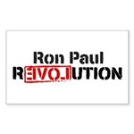 Ron Paul Revolution Sticker (Rectangle 50 pk)