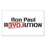 Ron Paul Revolution Sticker (Rectangle 10 pk)