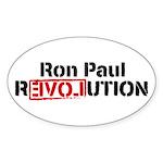 Ron Paul Revolution Sticker (Oval 10 pk)