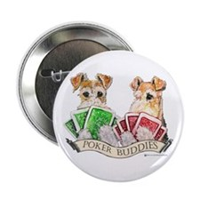 Fox Terrier Poker Buddies Button
