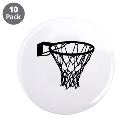 "Basketball 3.5"" Button (10 pack)"