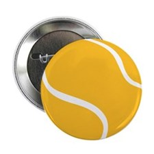 "Tennis ball 2.25"" Button"