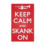 Keep Calm Skank On 22x14 Wall Peel