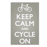 Keep Calm Cycle On Postcards (Package of 8)