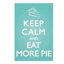 Keep Calm Eat Pie Postcards (Package of 8)