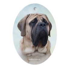 Mastiff 28 Oval Ornament