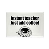 Coffee Teacher Rectangle Magnet