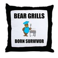 Bear Grills Throw Pillow