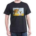 Sunflowers-Yellow Lab 7 Dark T-Shirt