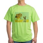 Sunflowers-Yellow Lab 7 Green T-Shirt