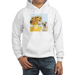 Sunflowers-Yellow Lab 7 Hooded Sweatshirt