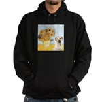 Sunflowers-Yellow Lab 7 Hoodie (dark)