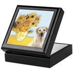 Sunflowers-Yellow Lab 7 Keepsake Box