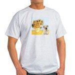 Sunflowers-Yellow Lab 7 Light T-Shirt