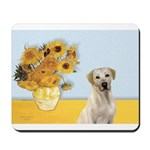 Sunflowers-Yellow Lab 7 Mousepad