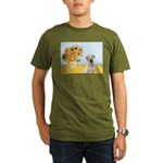 Sunflowers-Yellow Lab 7 Organic Men's T-Shirt (dar