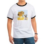 Sunflowers-Yellow Lab 7 Ringer T