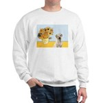 Sunflowers-Yellow Lab 7 Sweatshirt