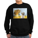 Sunflowers-Yellow Lab 7 Sweatshirt (dark)