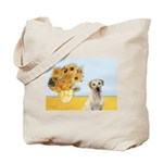 Sunflowers-Yellow Lab 7 Tote Bag
