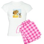 Sunflowers-Yellow Lab 7 Women's Light Pajamas