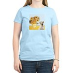 Sunflowers-Yellow Lab 7 Women's Light T-Shirt