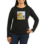 Sunflowers-Yellow Lab 7 Women's Long Sleeve Dark T