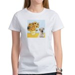 Sunflowers-Yellow Lab 7 Women's T-Shirt