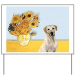 Sunflowers-Yellow Lab 7 Yard Sign