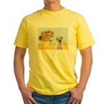 Sunflowers-Yellow Lab 7 Yellow T-Shirt
