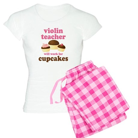 Funny Violin Teacher Women's Light Pajamas