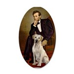 Lincoln-Yellow Lab 7 20x12 Oval Wall Decal