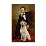 Lincoln-Yellow Lab 7 35x21 Wall Decal