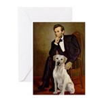 Lincoln-Yellow Lab 7 Greeting Cards (Pk of 10)
